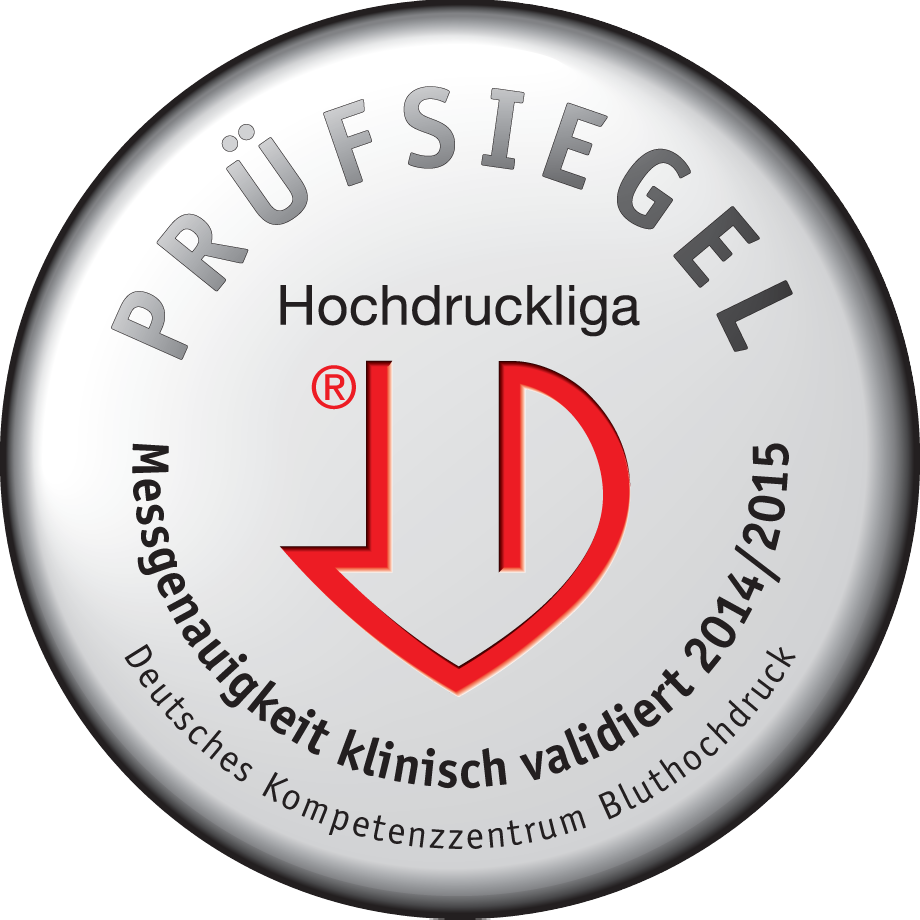 <p>The blood pressure monitor has been acclaimed by the Deutsche Hochdruckliga (German Hypertension Society)</p>