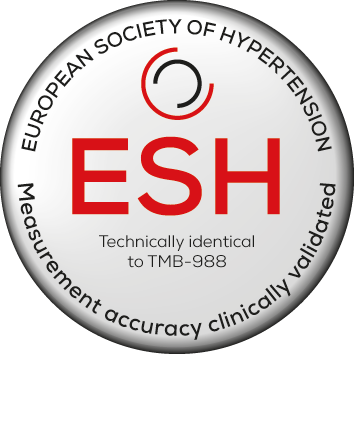 Recognised by the European Society of Hypertension. Technically identical to TMB-988