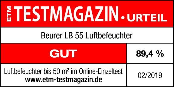 Test result: 89.40 % good for the Beurer LB 55, 02/2019