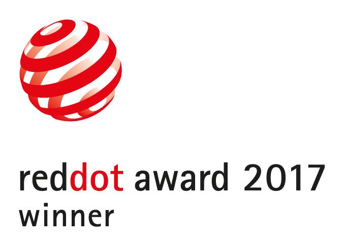 Red Dot Award: Product Design 2017. Le produit a reçu le prix convoité du design RED DOT 2017