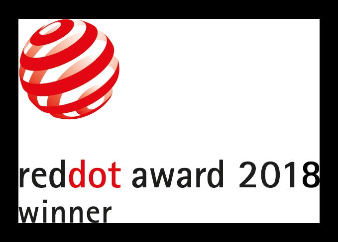 Red Dot Award: Product Design 2018. Il prodotto ha ricevuto il prestigioso premio per il design RED DOT 2018