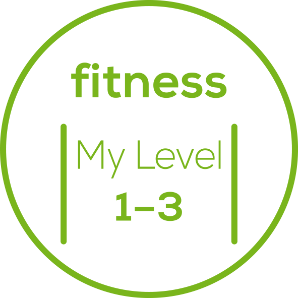 Fitnesslevel 3 einstellbare Fitnesslevel