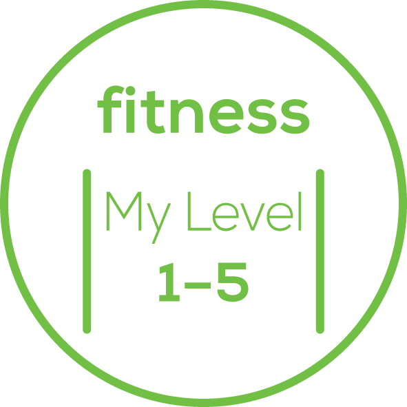 Fitnesslevel 5 einstellbare Fitnesslevel
