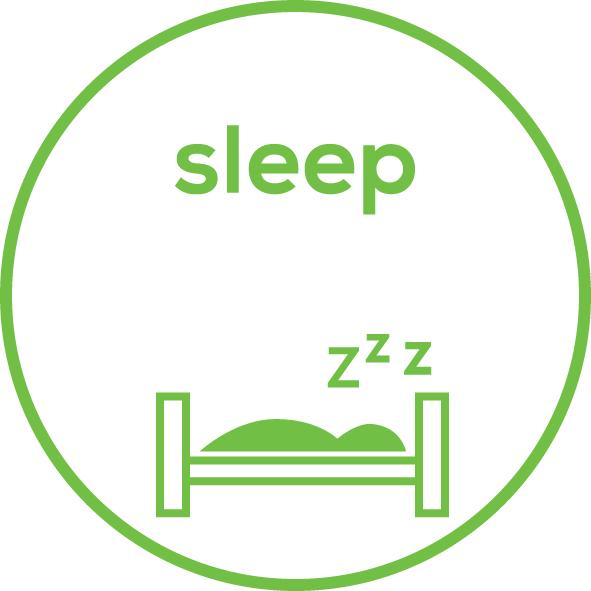 Rilevamento del sonno Registrazione notturna dell'attività fisica durante il sonno e durata del sonno