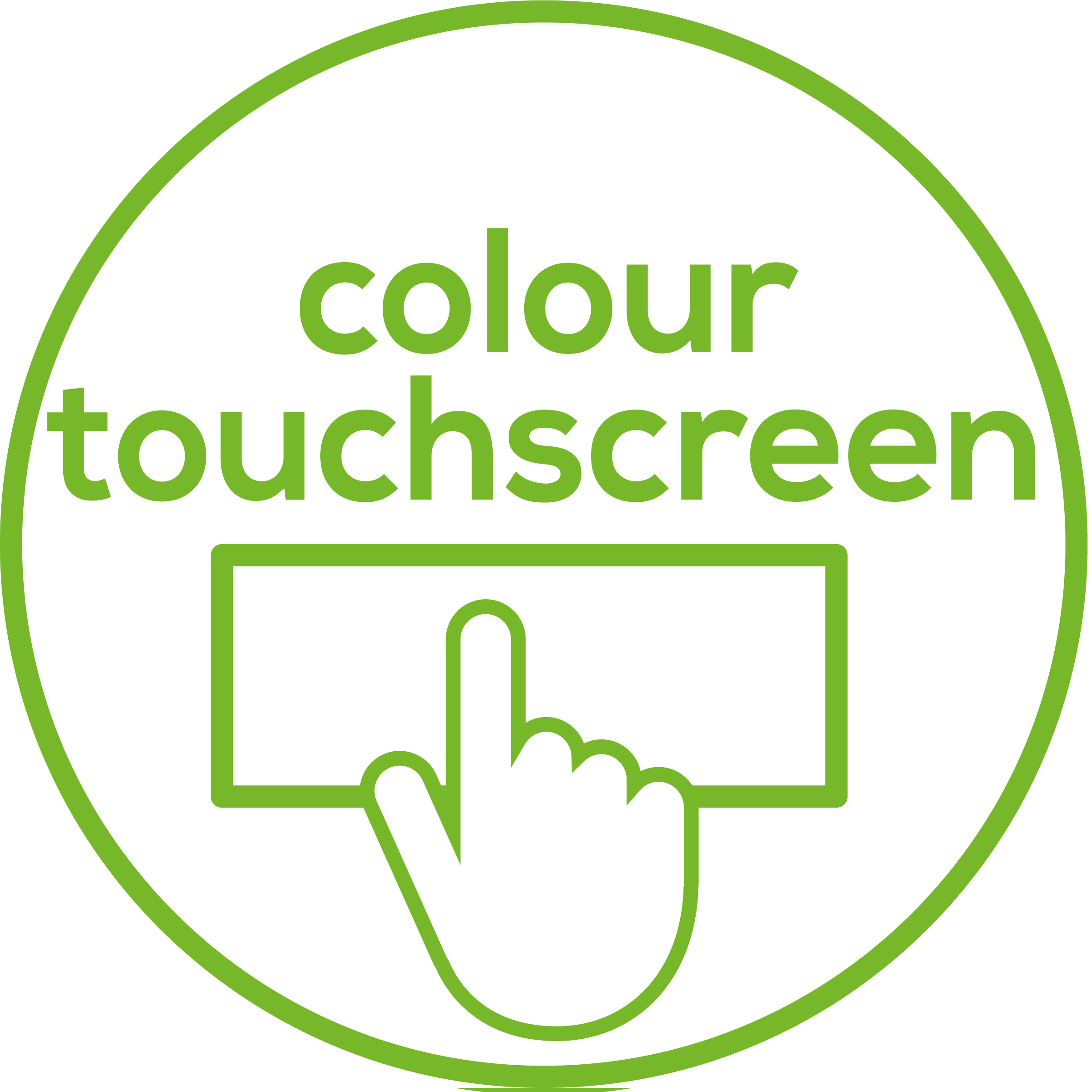 Colour touchscreen Colour touchscreen for easier recognition of notifications