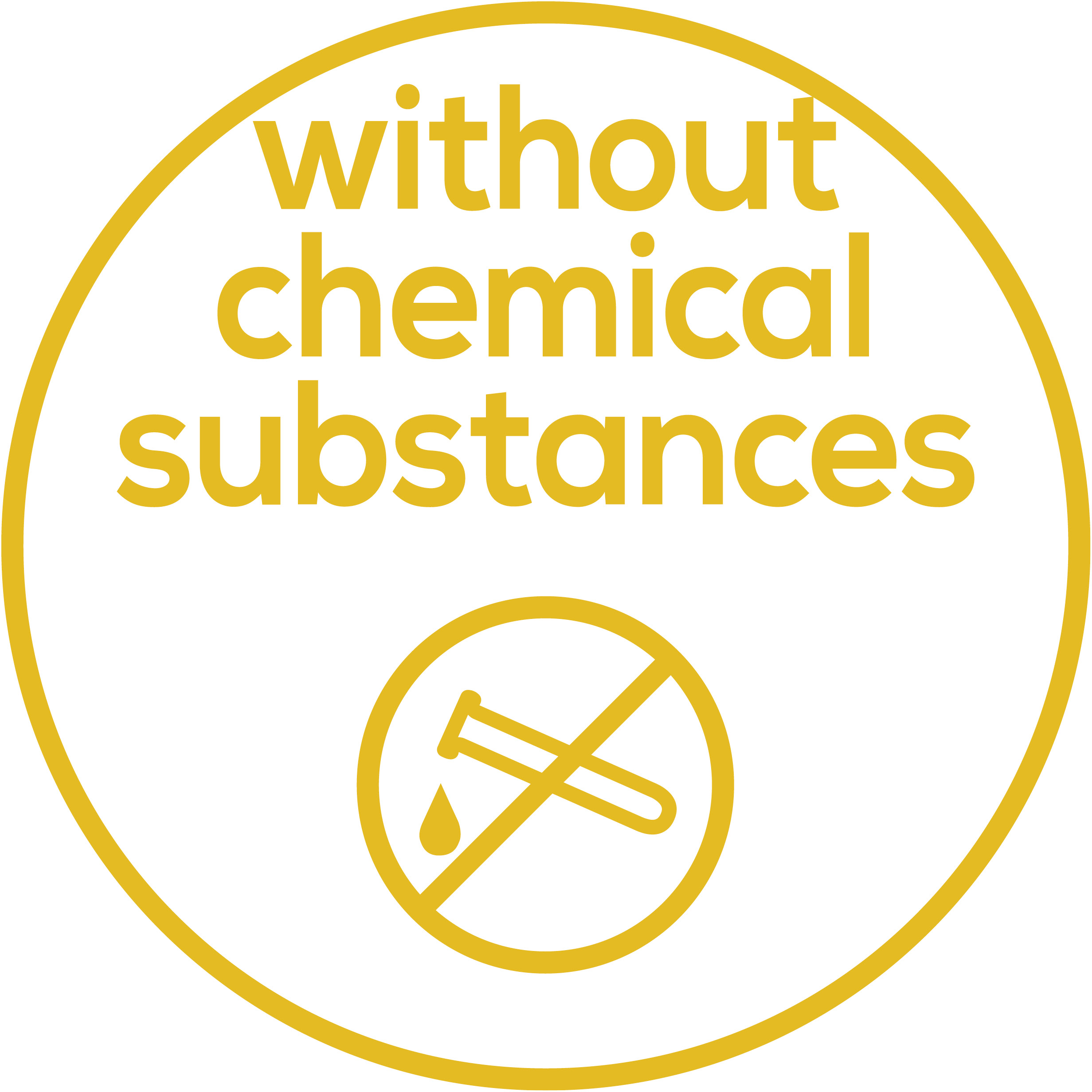 Without the use of chemicals