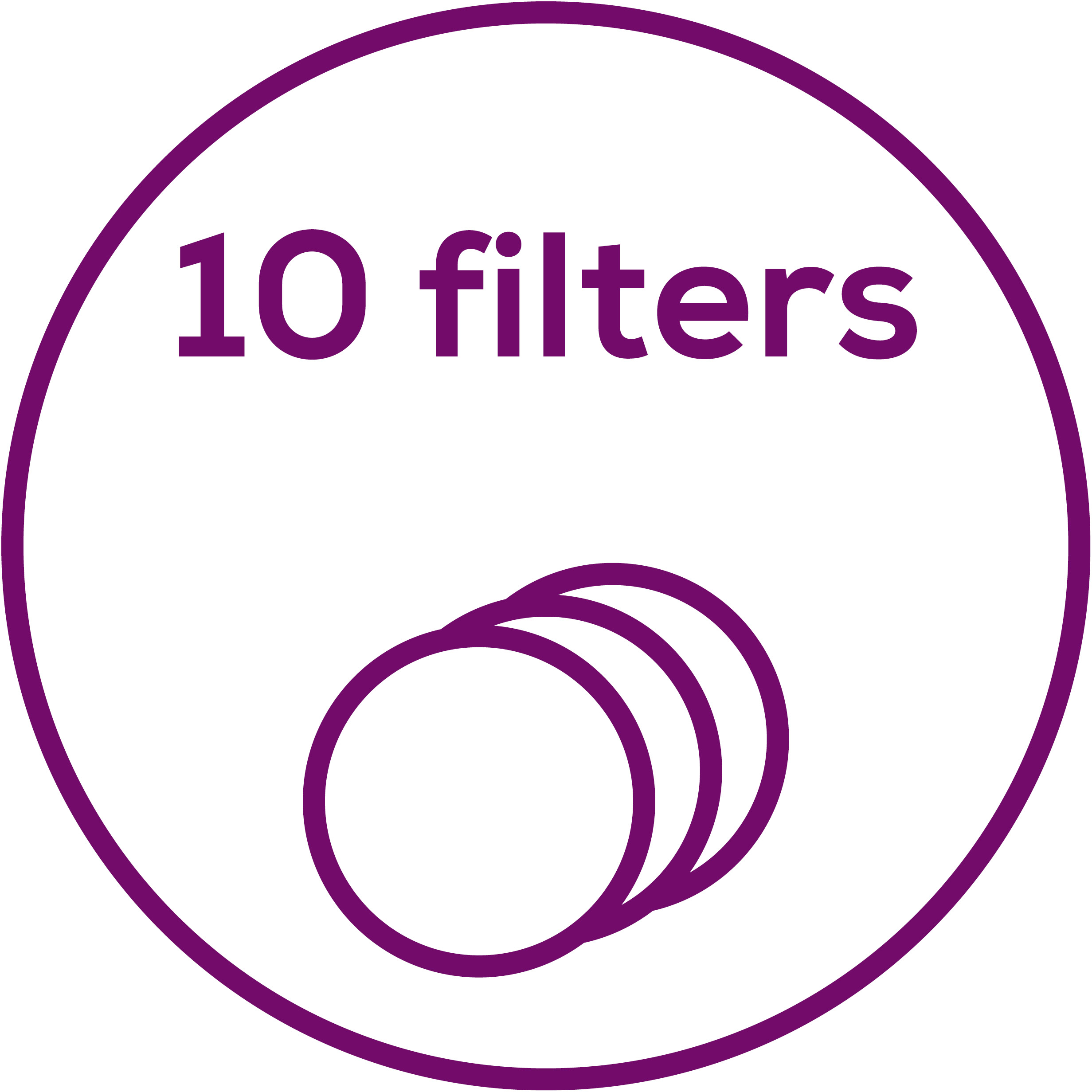 Accessories Includes 10 replacement filters
