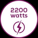 Moc wyjściowa Produkt ma moc wyjściową 2200W