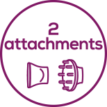 Attachments Includes 2 high-quality attachments