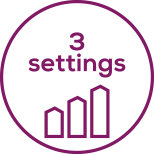 3 niveaux de réglage Poignée réglable 3positions