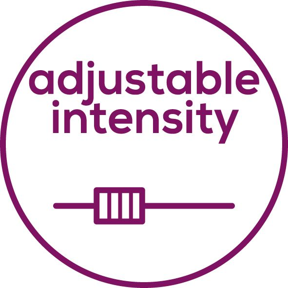 Adjustable intensity Individually adjustable intensity from 0 to 15