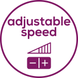 Speed Continuously adjustable