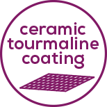 Ceramic tourmaline coating For particularly gentle styling