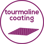 Tourmaline coating For particularly gentle styling