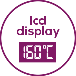 LCD display With easy-to-read LCD display