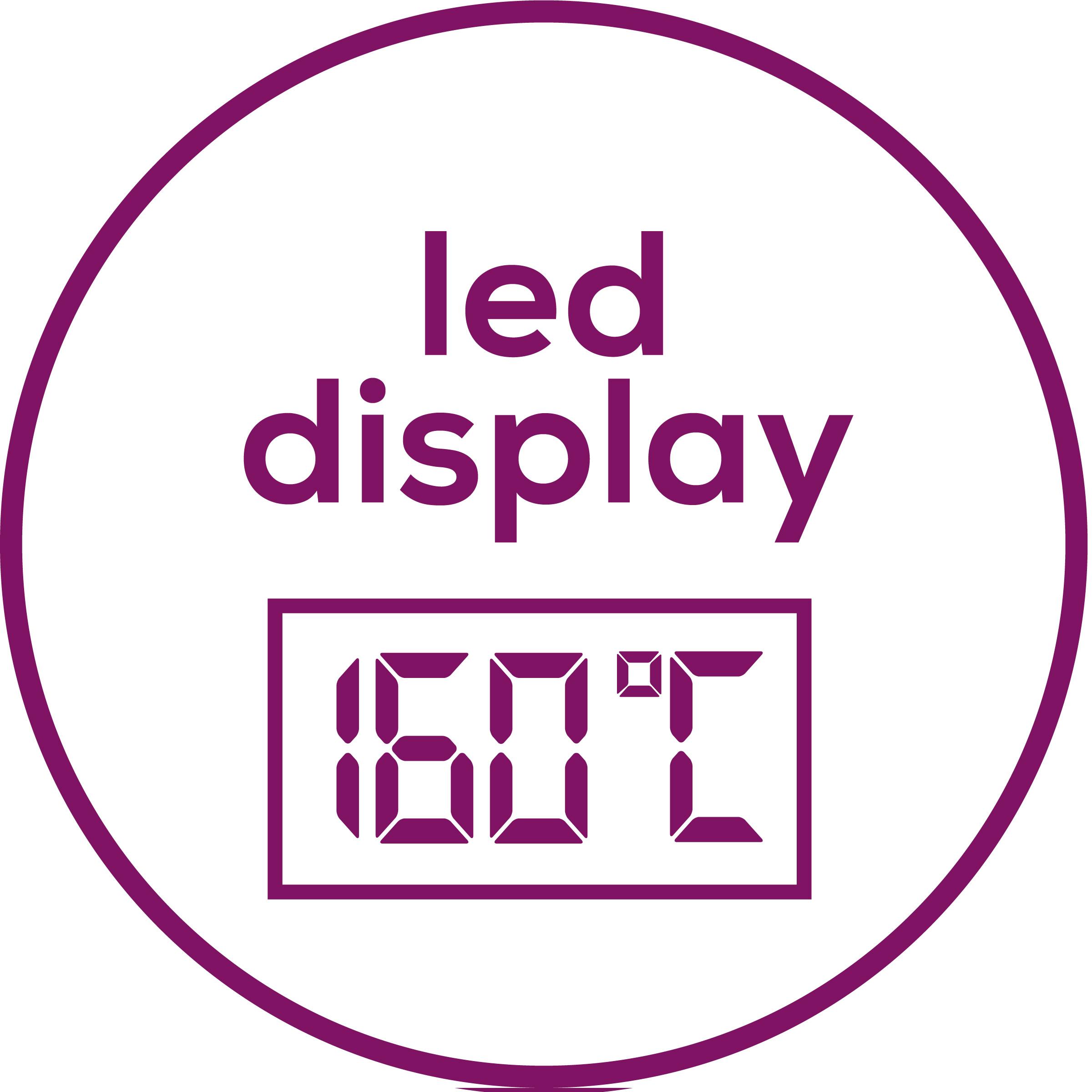 LED Display Zur Anzeige der eingestellten Temperatur.