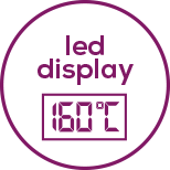 Magic LCD display Including temperature display – only appears during operation