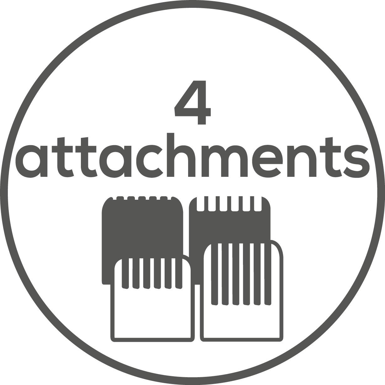 Zubehör Mit vier extra Aufsätzen