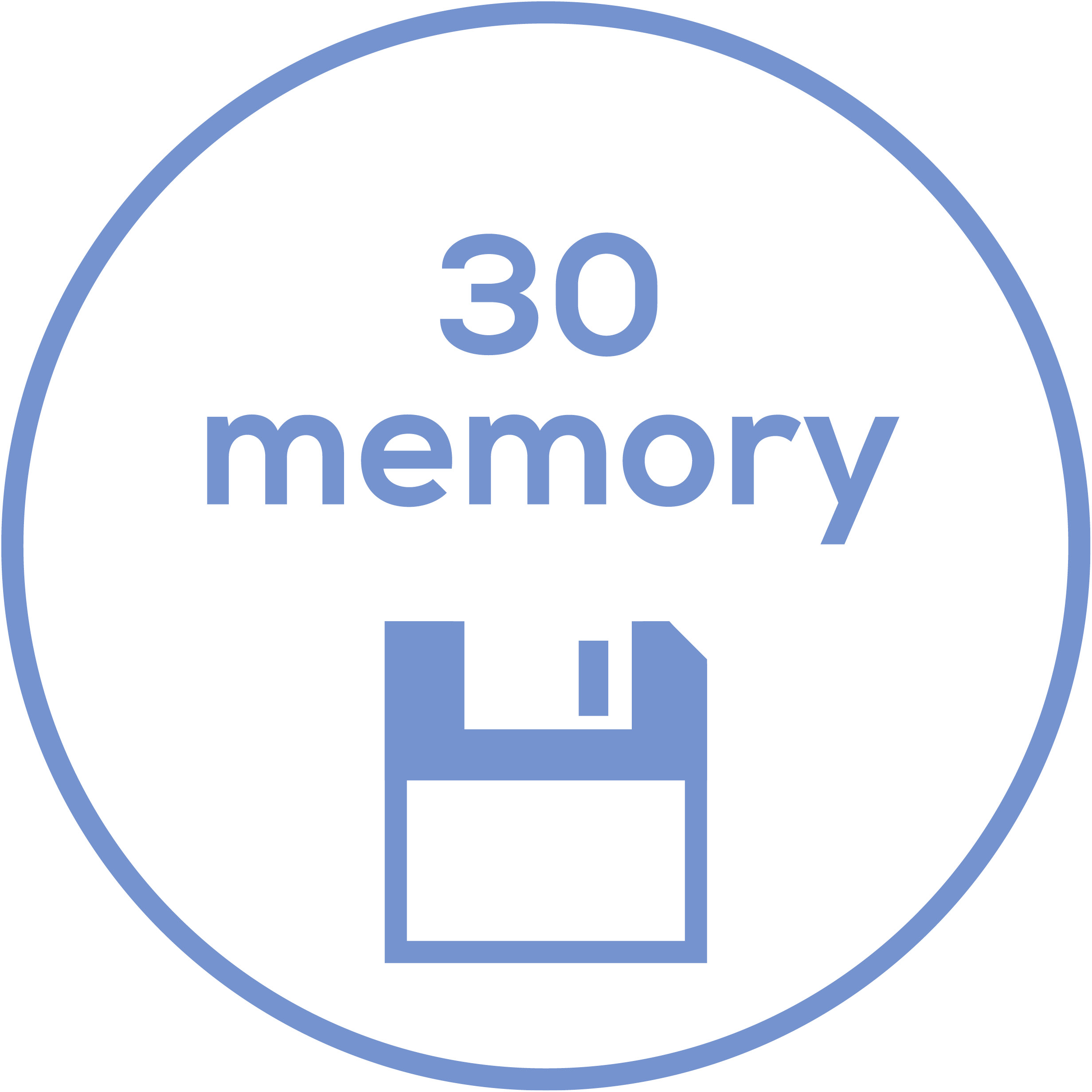 Memory function 30 memory spaces