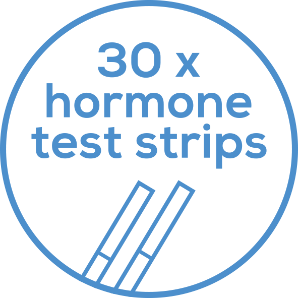 30 test strips Incl. 15 FSH and 15 LH test strips
