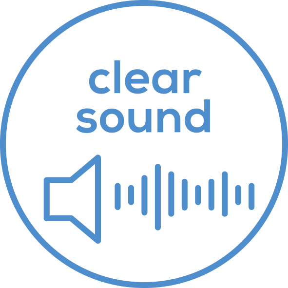 Very clear sound Very clear sound thanks to RIC design