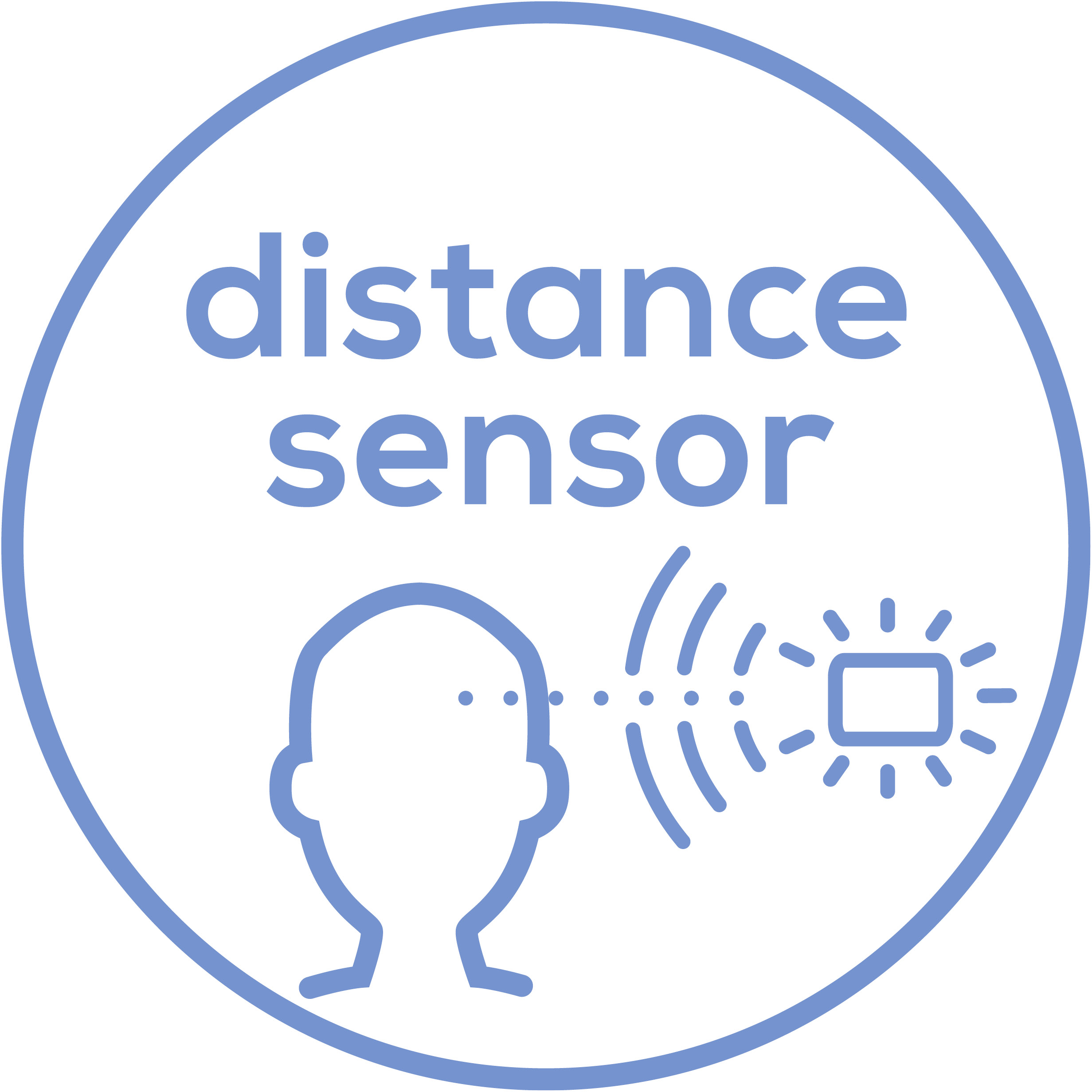 Distance sensor This product has a distance sensor.