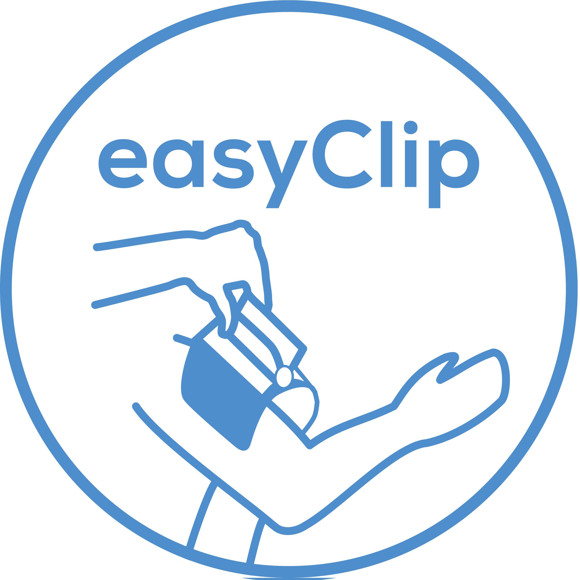 easyClip Innovativo manicotto easyClip (22-42 cm): Facile applicazione con una sola mossa