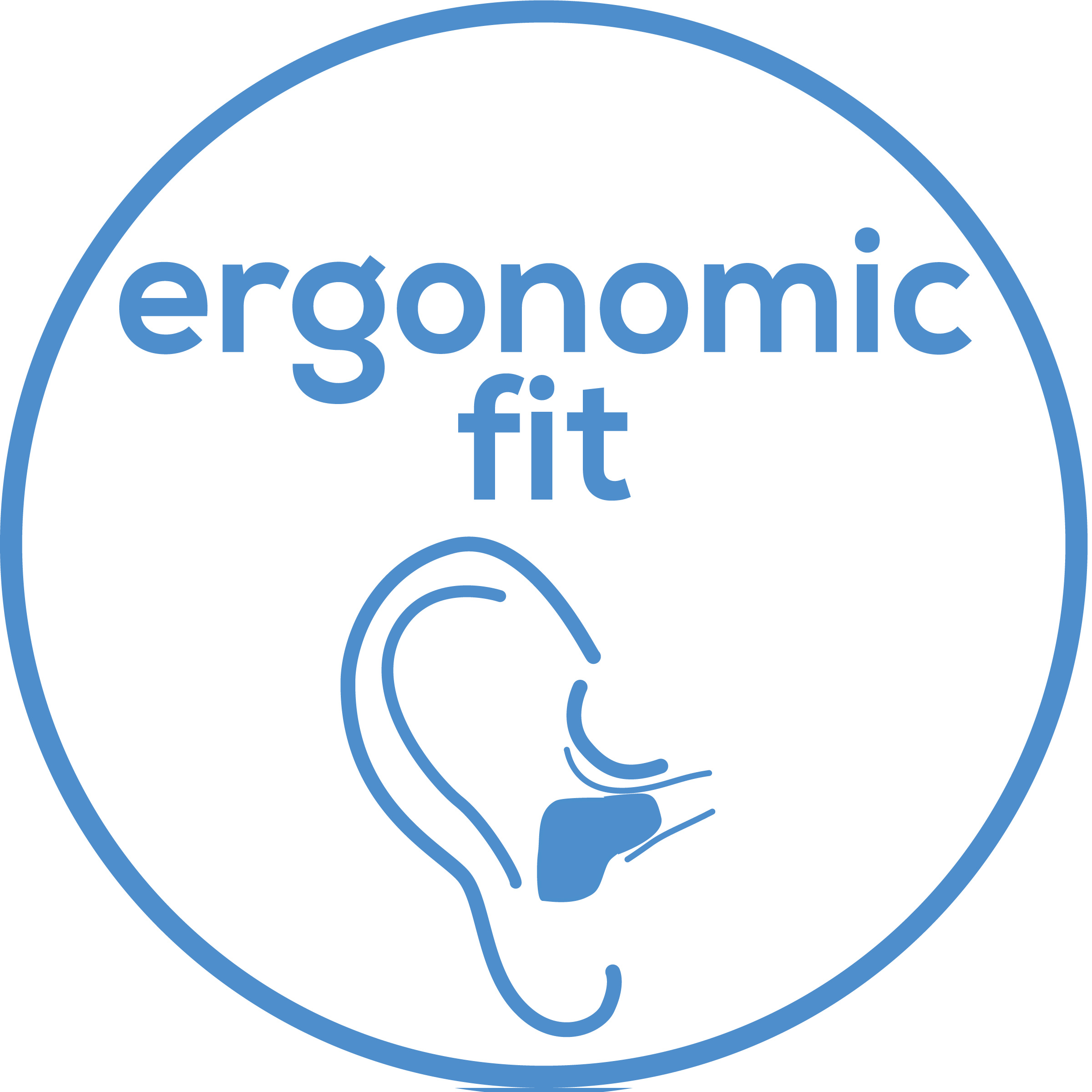 Ergonomic fit Ergonomic fit directly in the ear canal; barely visible