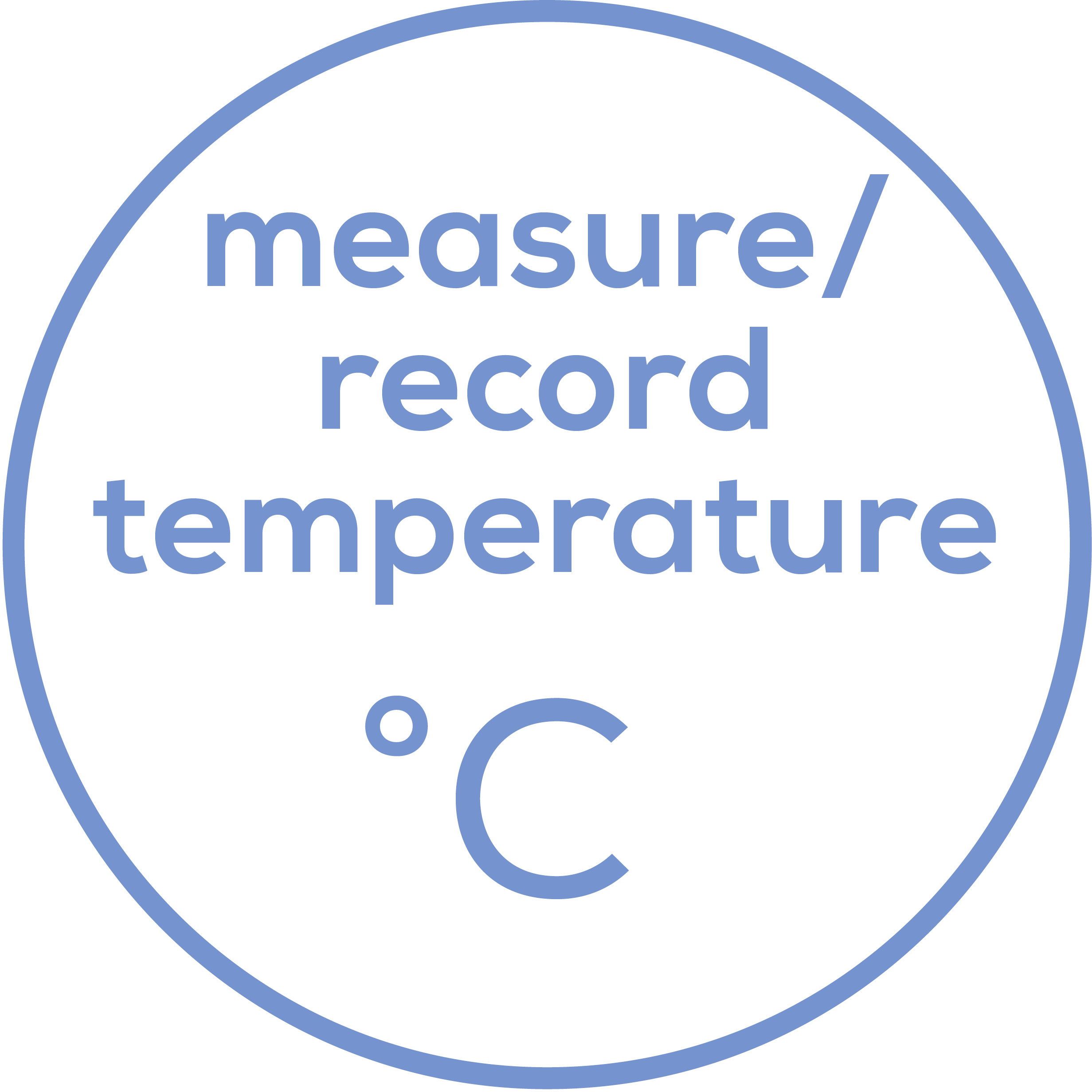 Temperature recording Measurement and entry of the temperature