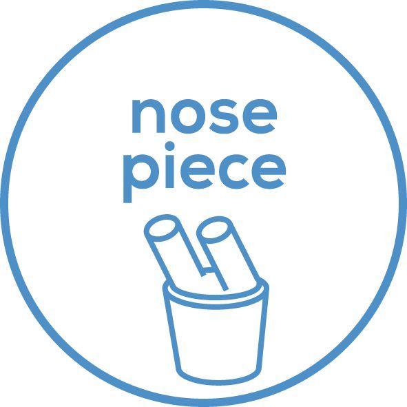 Zubehör Ein Nasenstück ist als Zubehör enthalten