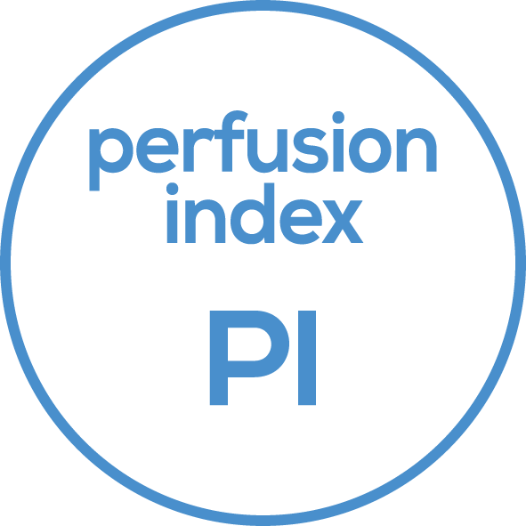 Perfusions Index  The device measures the blood flow value of the finger.