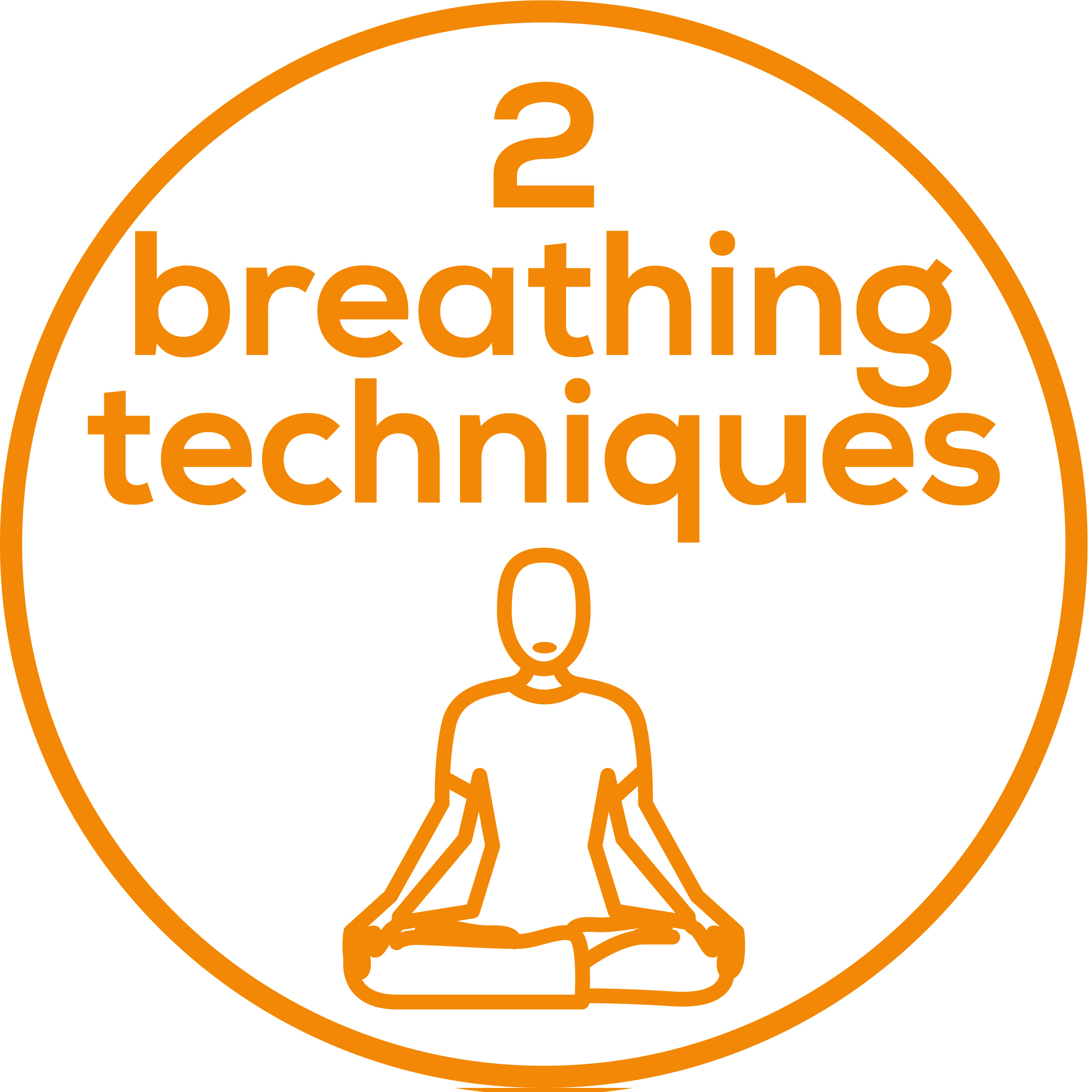 2 breathing techniques Choose between the 4-7-8 yoga breathing technique and the relaxation breathing technique