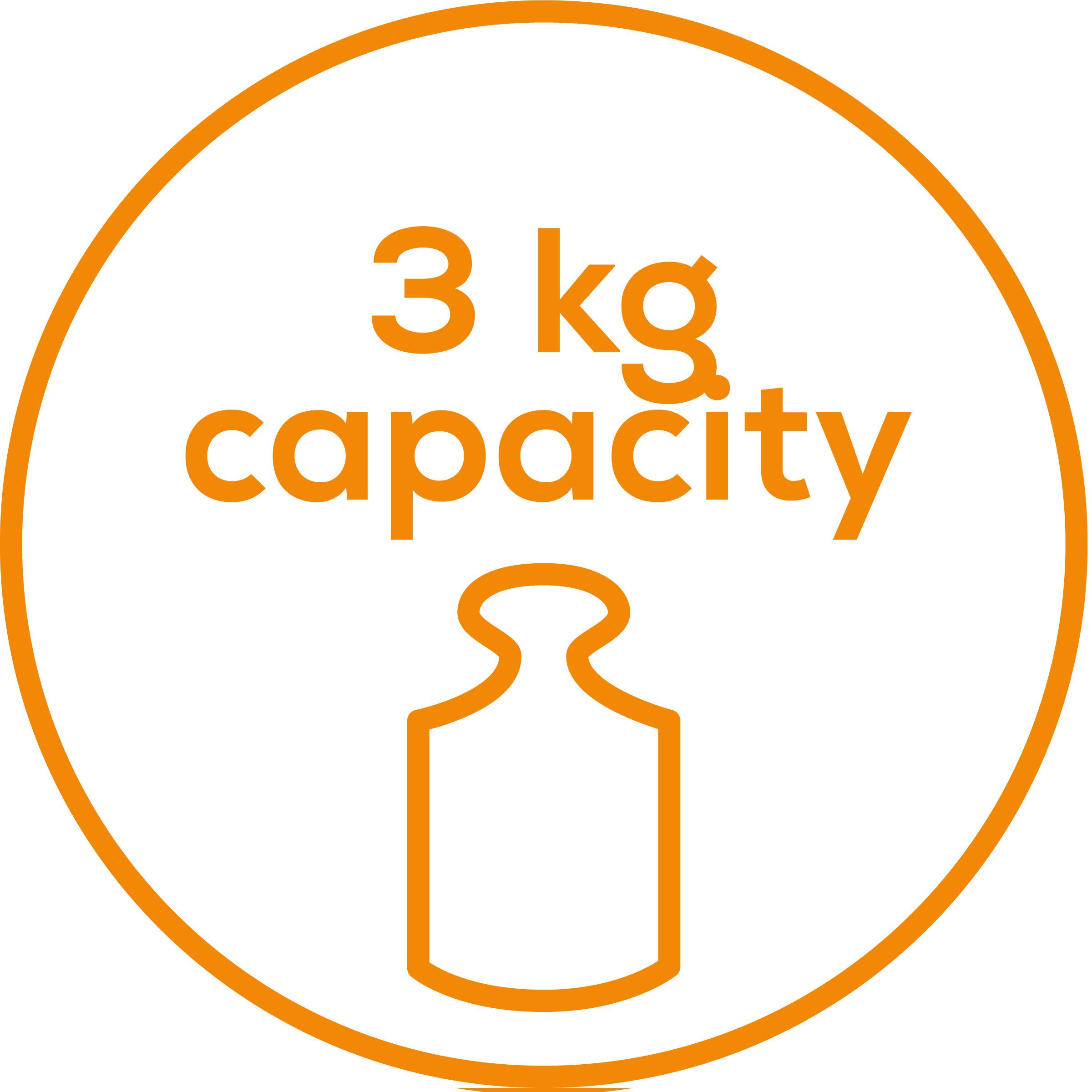 Weight capacity Weight capacity: 3 kg/6.6 lb