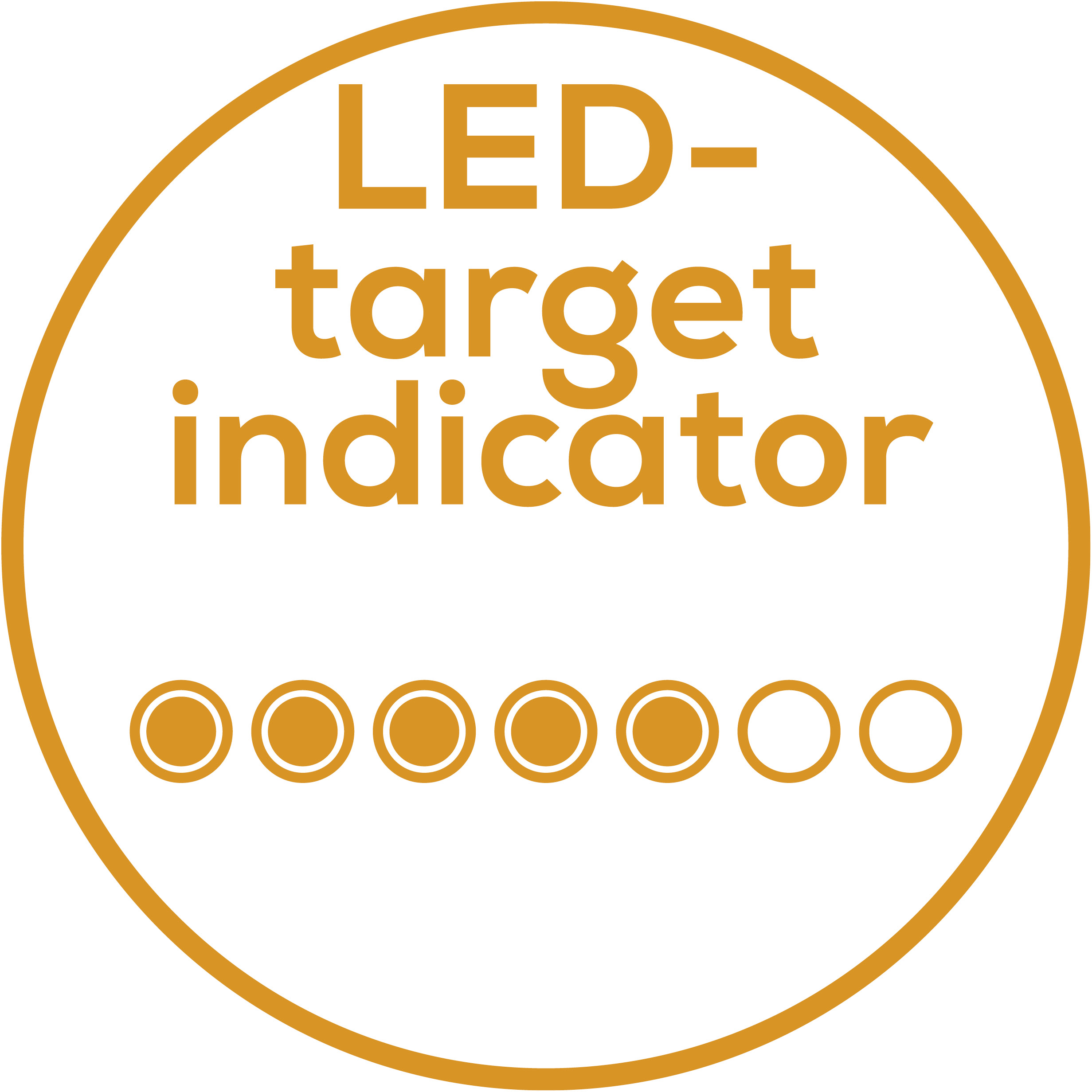 LED motivator Provides colour-coded feedbackn so that achieving your target is always in sight
