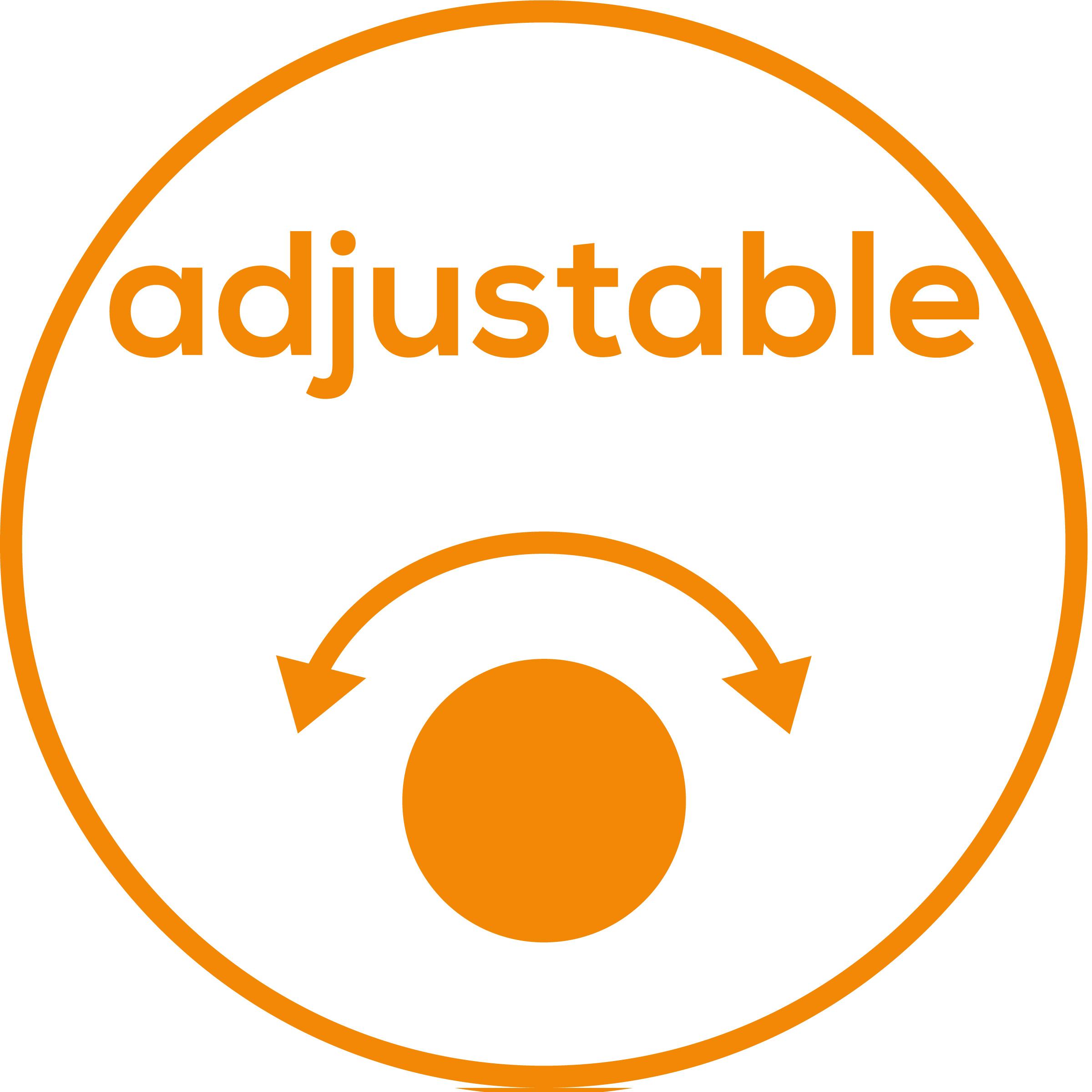 Ajustable individualmente Ajuste flexible adecuado a sus necesidades