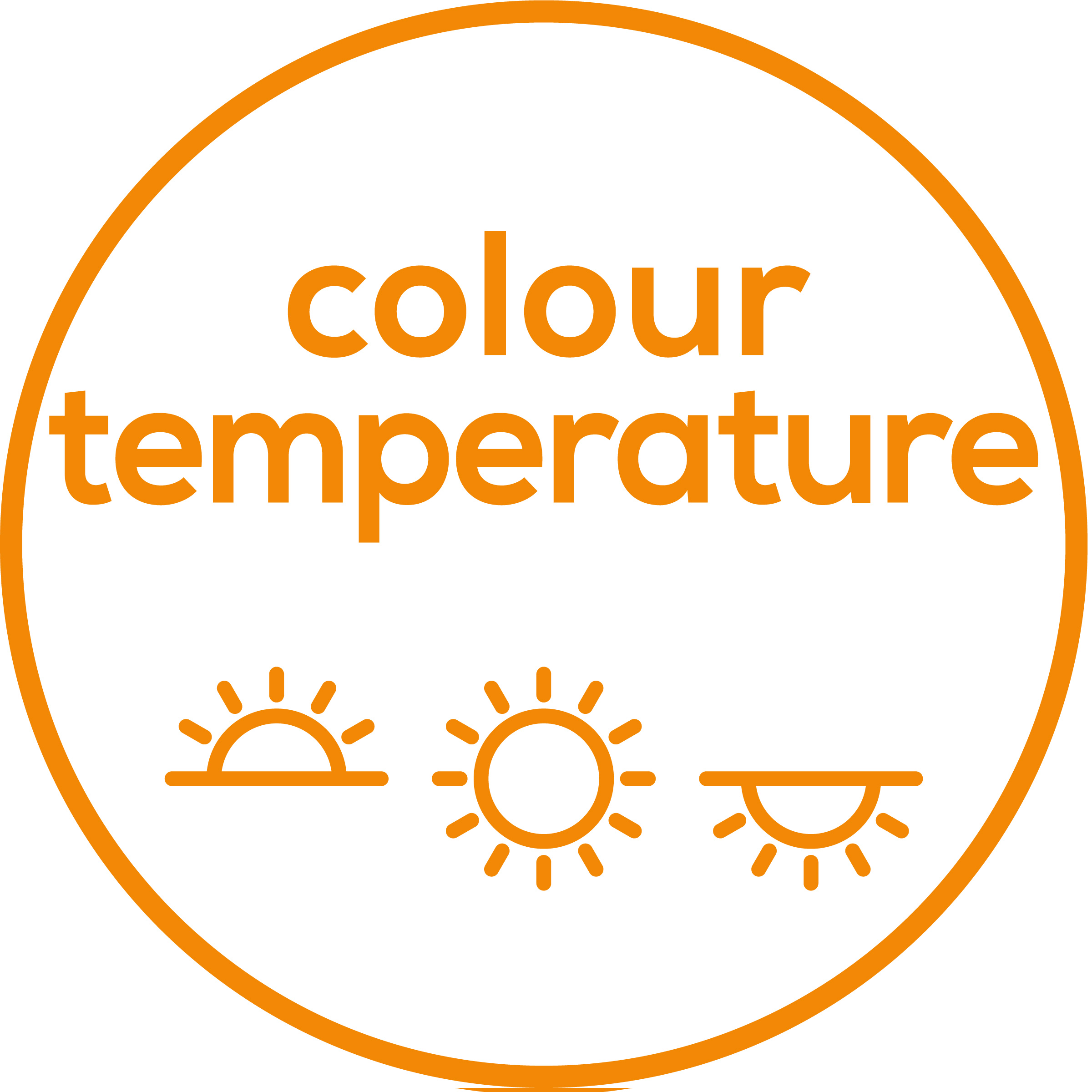 Colour temperature 3 colour temperature settings for a regulated day-night rhythm
