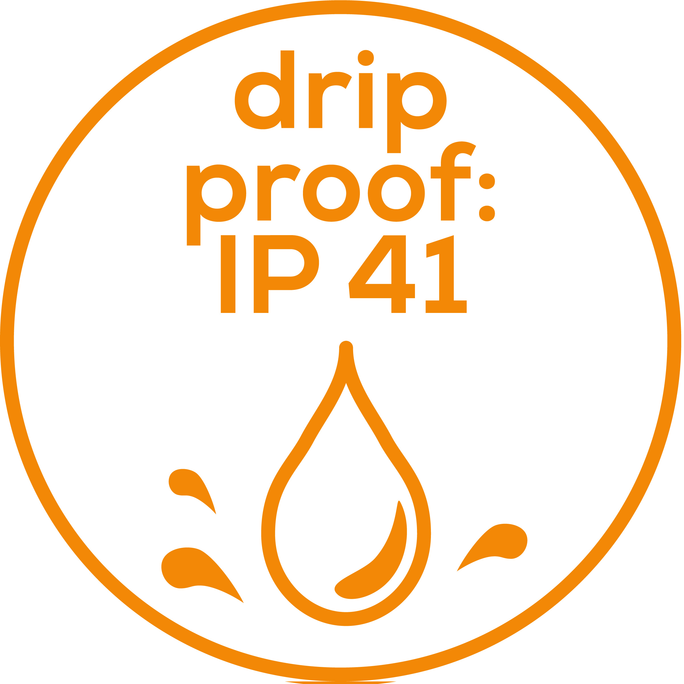 Drip proof  Drip proof (IP41)