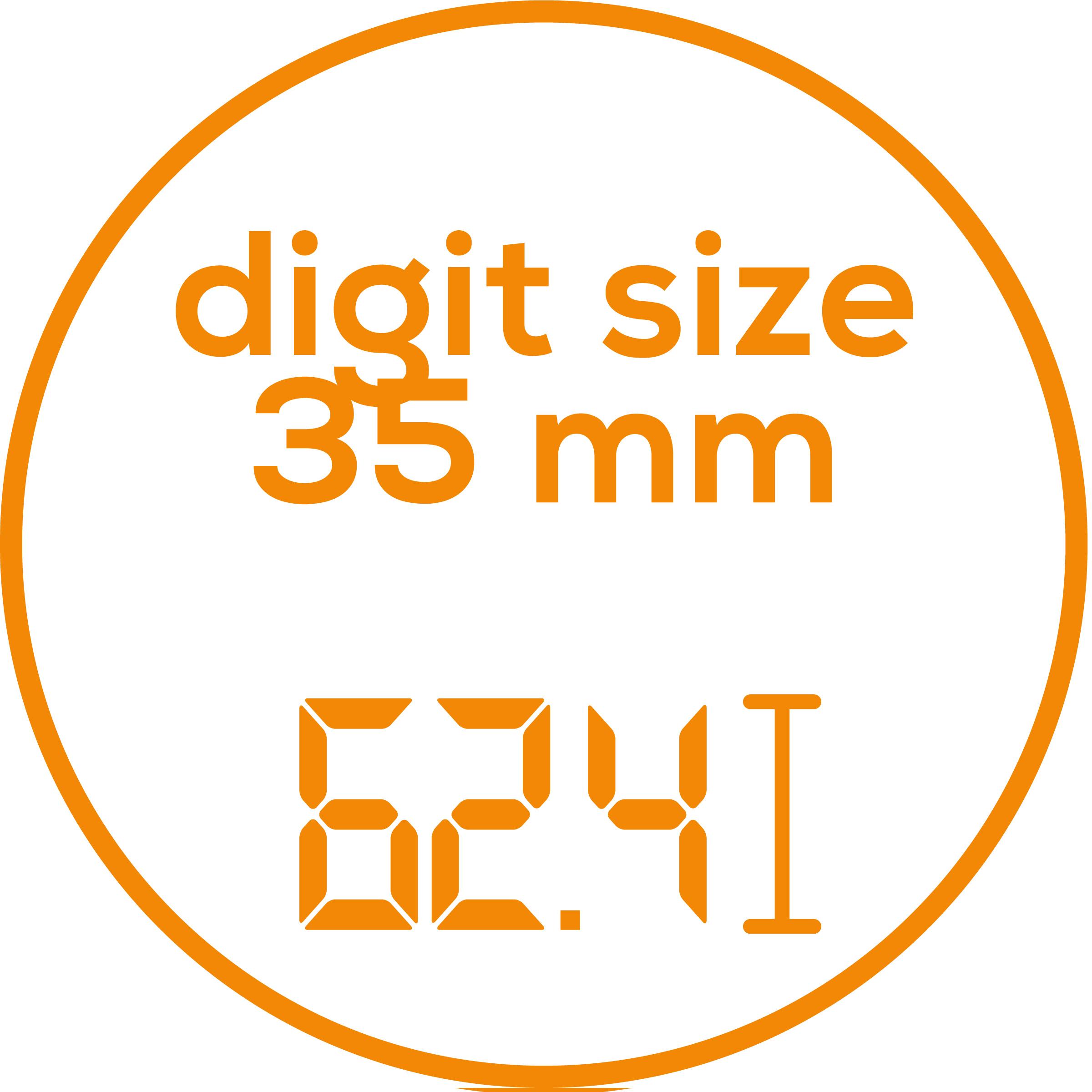 Zifferngröße Zifferngröße: 35 mm