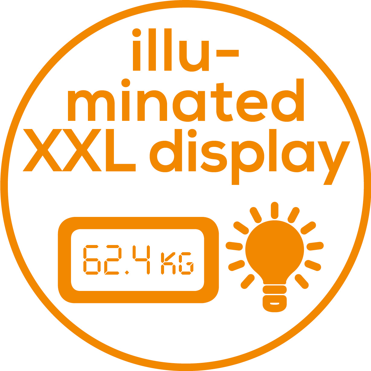 XXL display Illuminated, XXL display for optimum readability