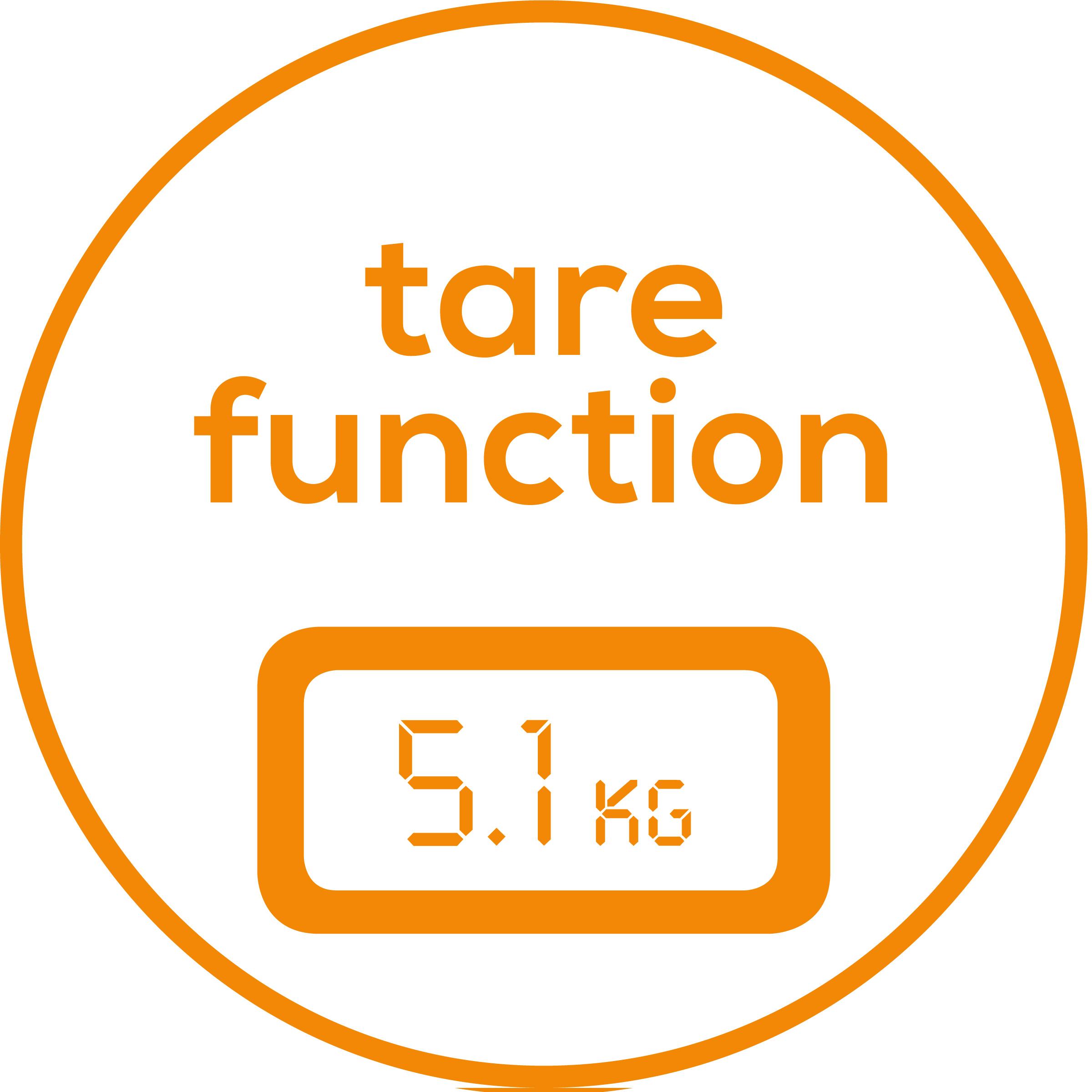 Función de pesar TARA La función adicional de pesar TARA permite determinar fácilmente el peso de bebés, animales domésticos, paquetes, etc.