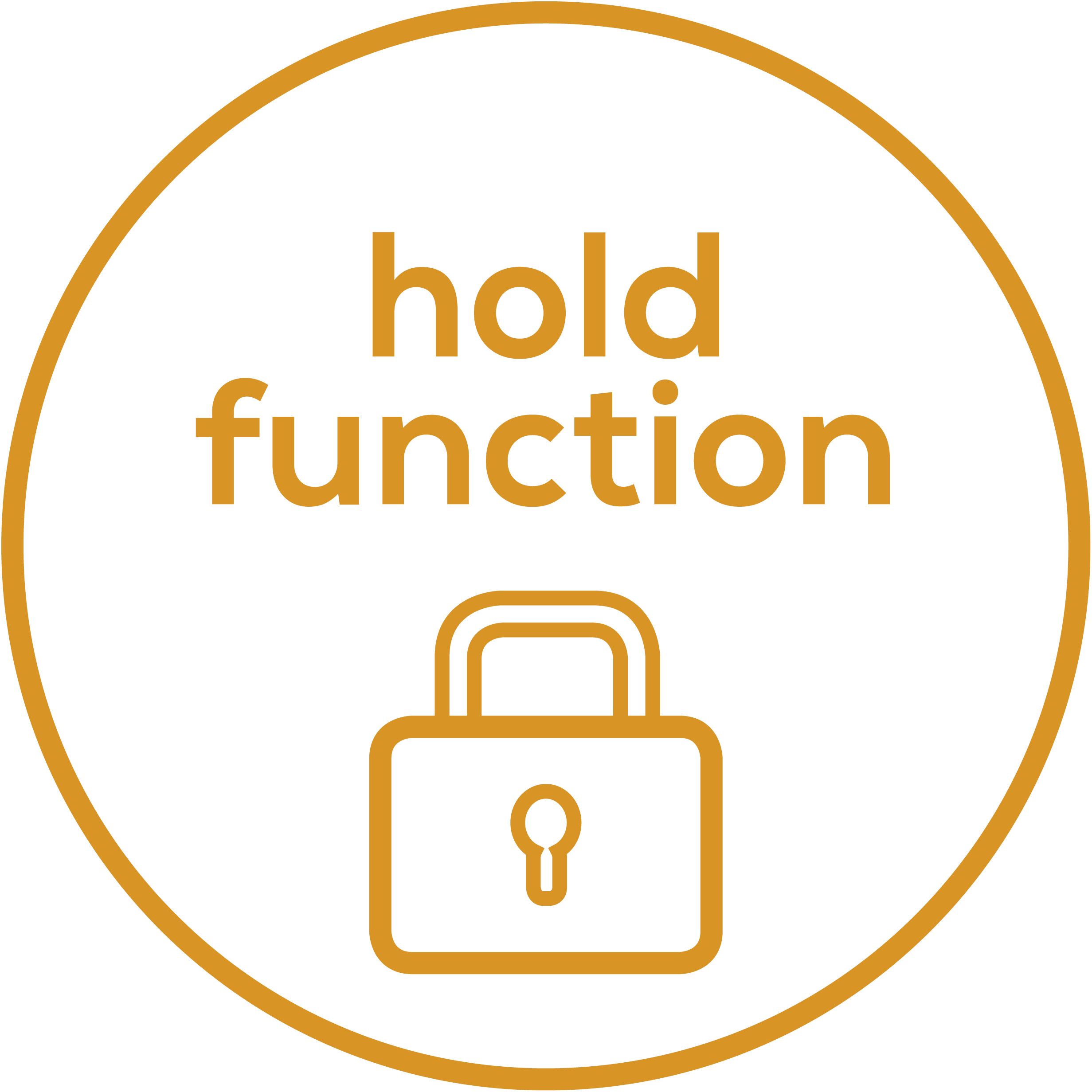 Hold function Weight displayed after