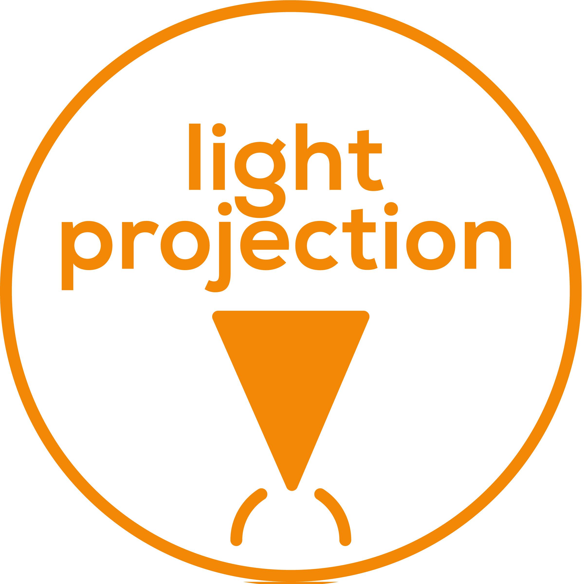 Projection de lumière Projection de lumière pulsée au plafond