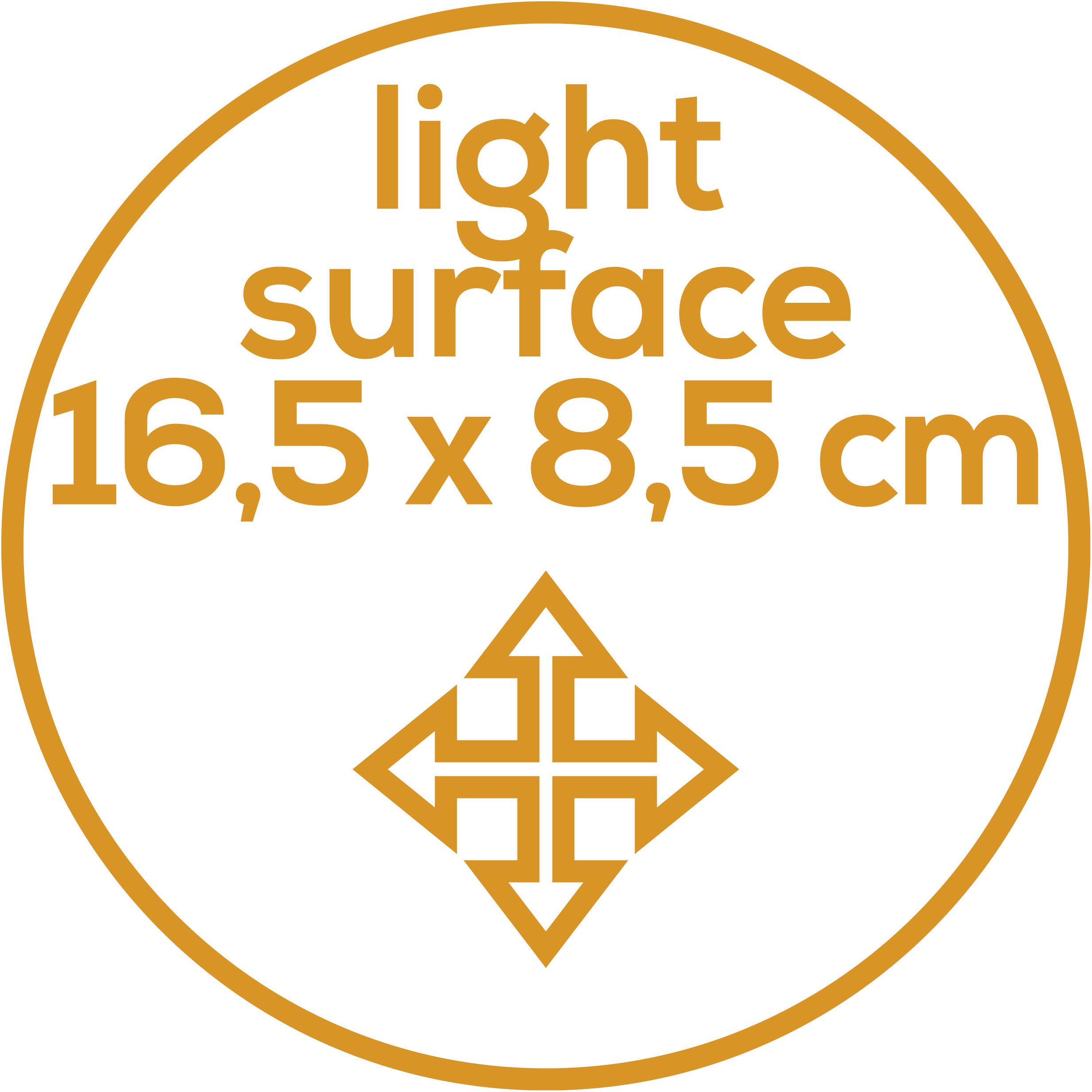 Illumination surface 16.5 x 8.5 cm