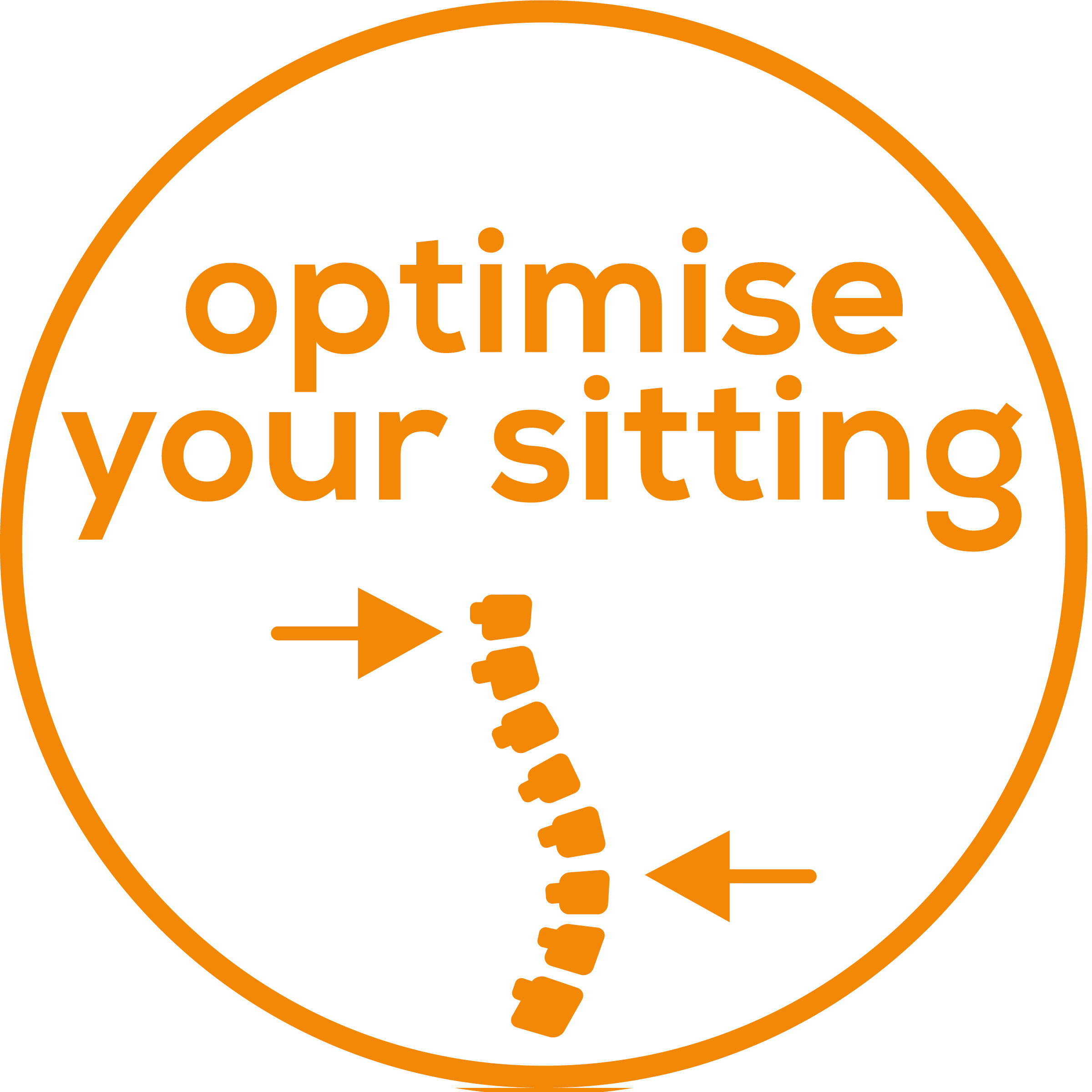 Optimised sitting position For better back health