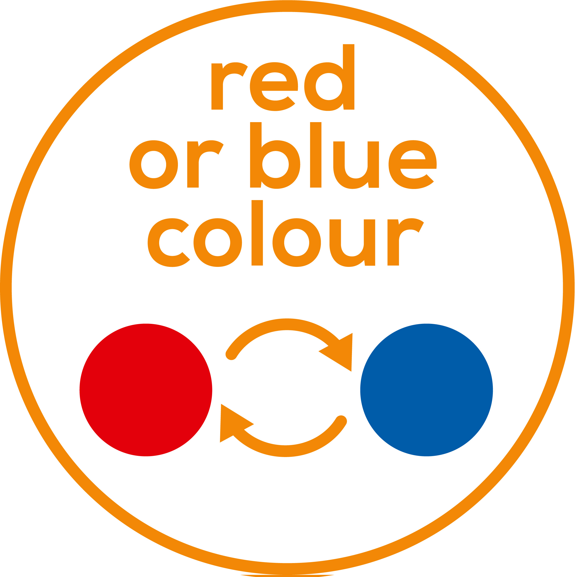 Dos colores de luz Se puede elegir entre luz roja y azul