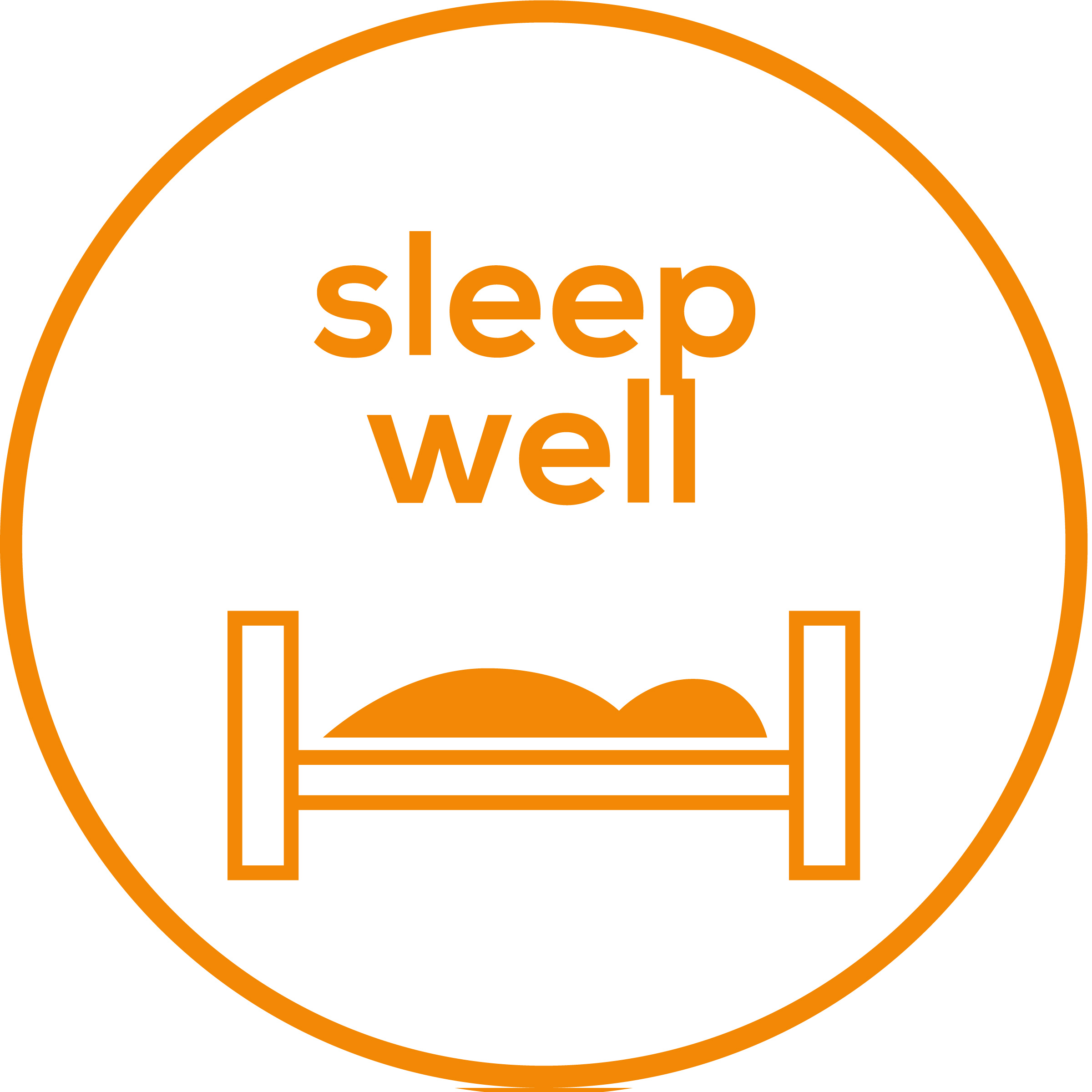 Sleep well To support a conscious breathing rhythm