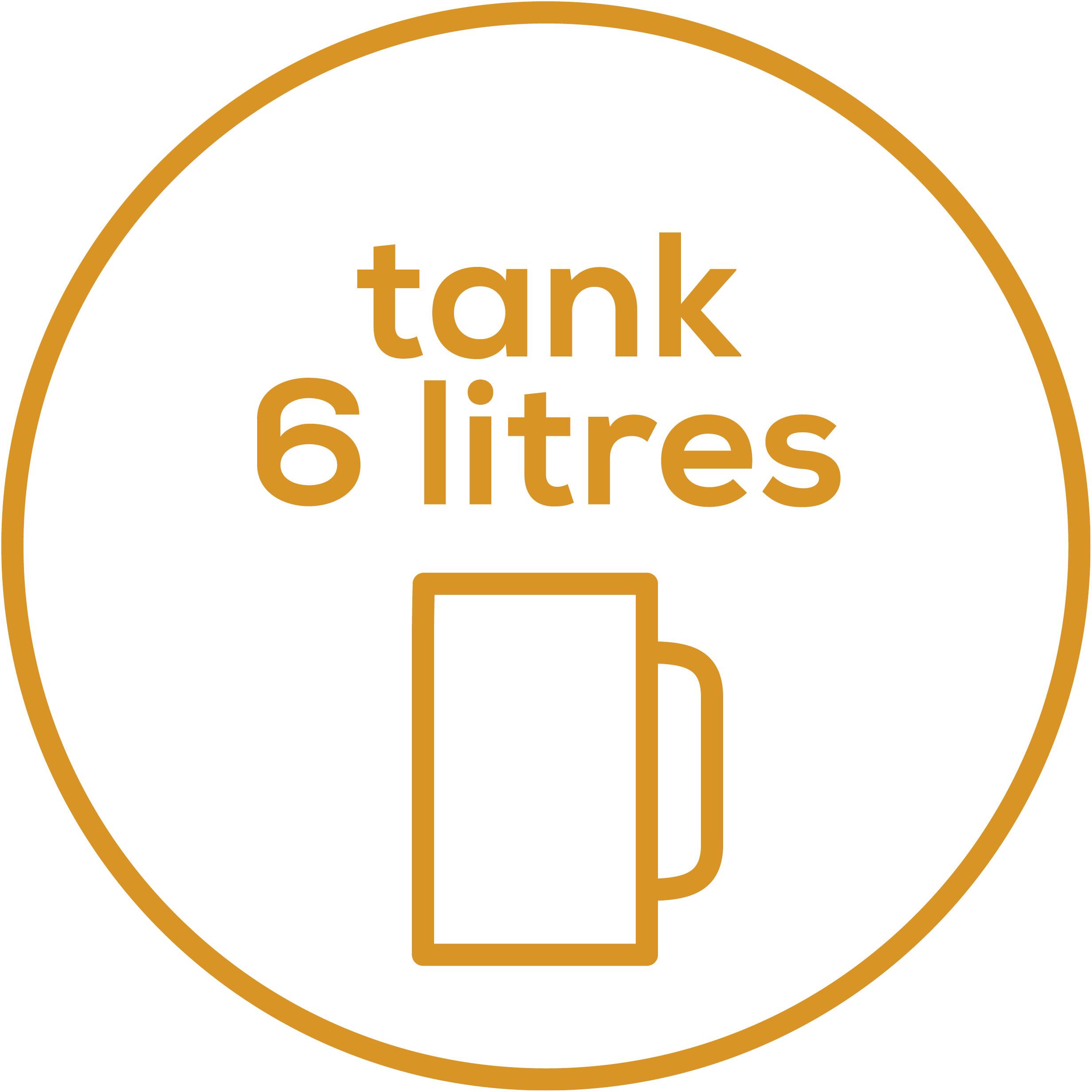 Tank size 6 l