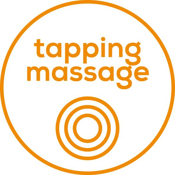 Tapping massage With powerful and rhythmic tapping movements, this massage penetrates the deeper layers of muscle to help create a feeling of deep relaxation