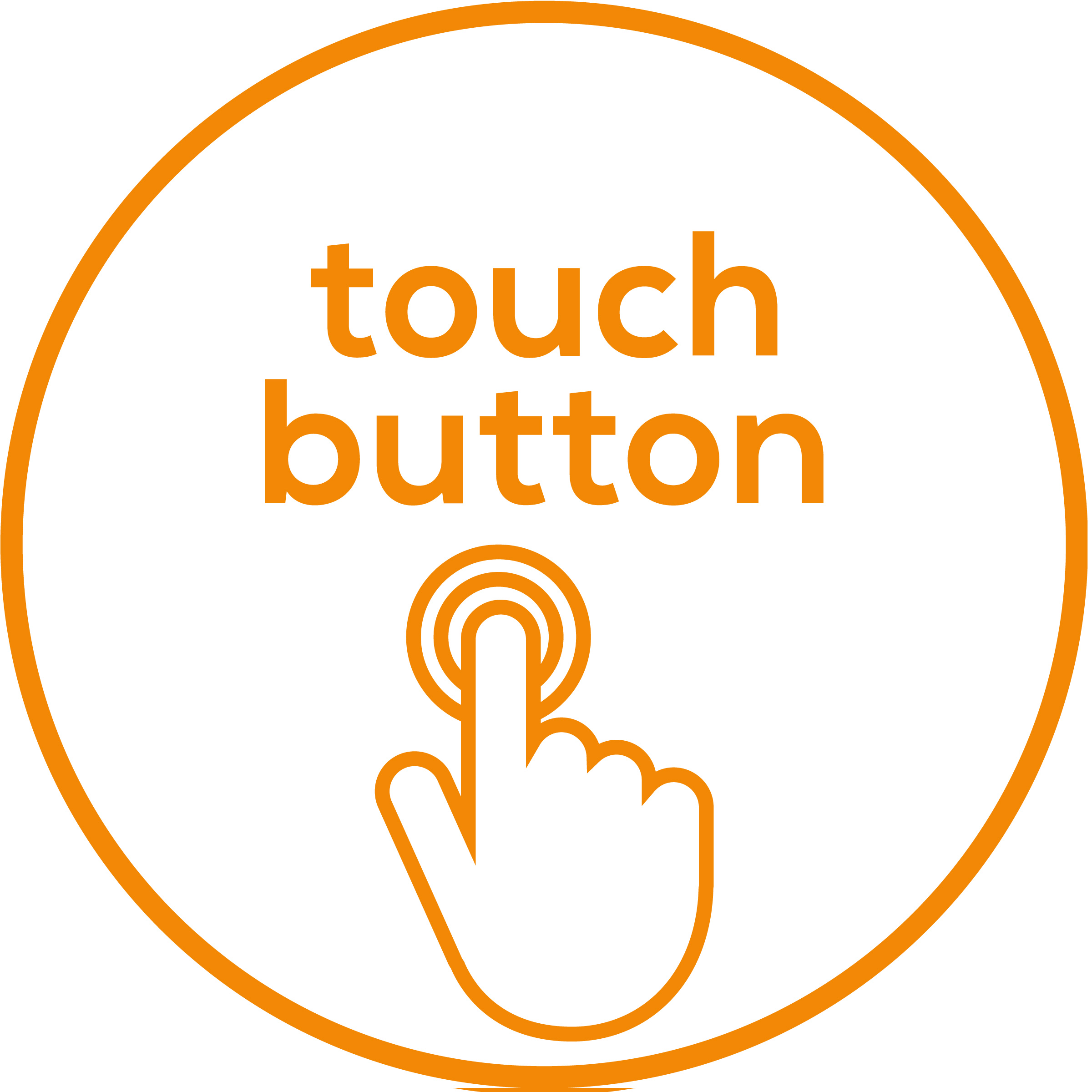 Contact sensor Convenient operation via a touch button
