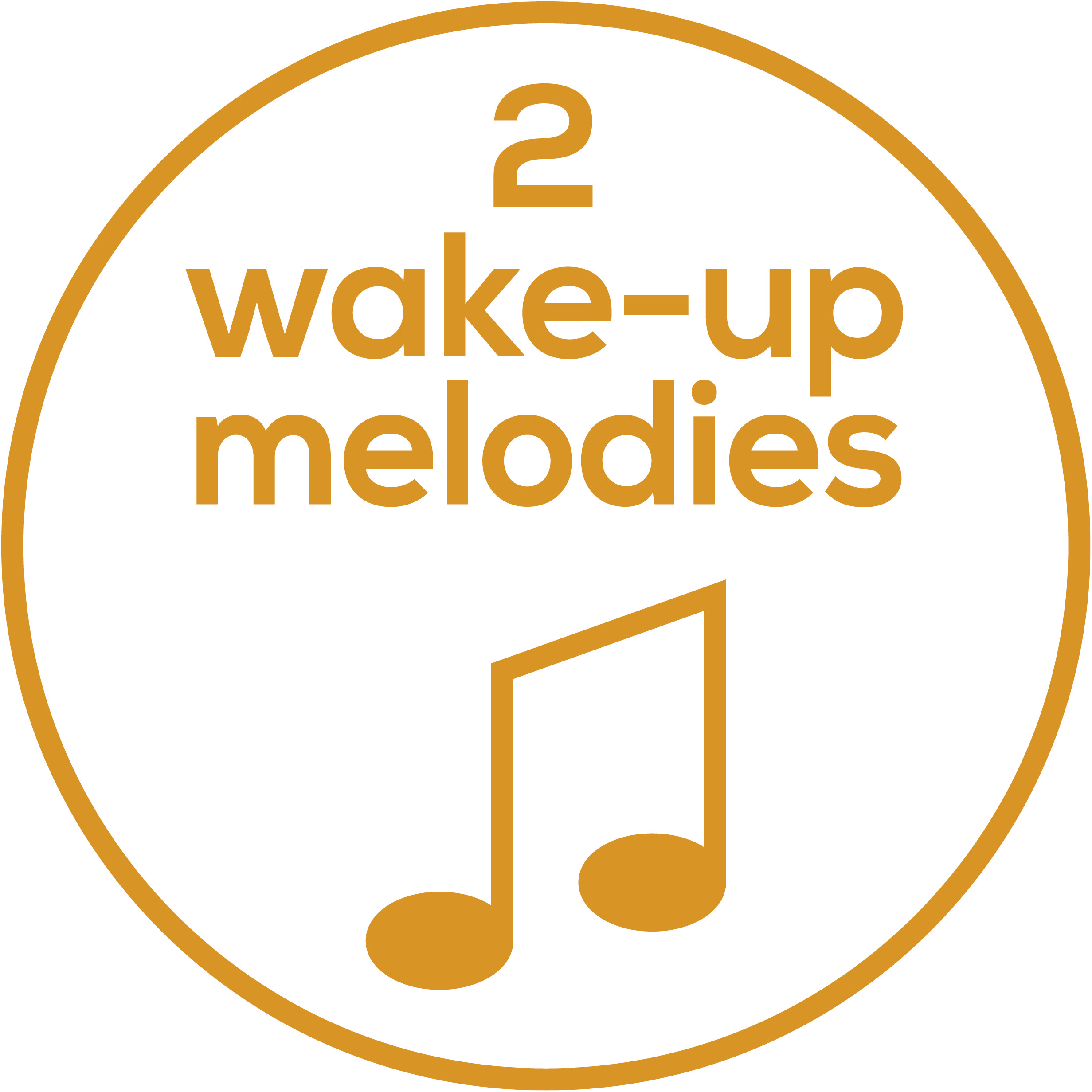 Melody selection 2 wake-up melodies